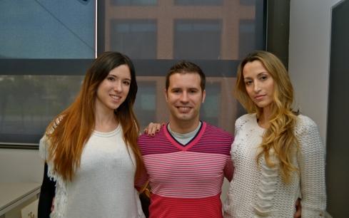 Paty y Marina con Juanito