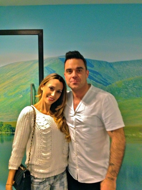 Paty with Robbie Williams