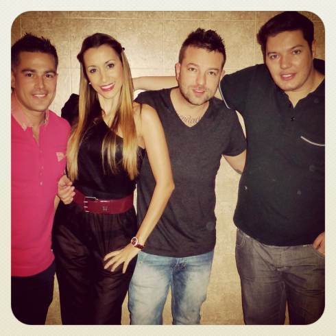 Pedrito, Paty, Juanjo y Cristian Drak
