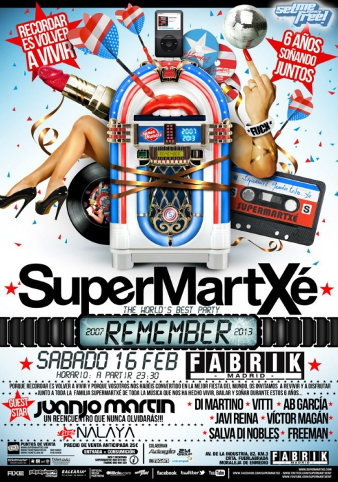 Flyer SuperMartXé REMEMBER