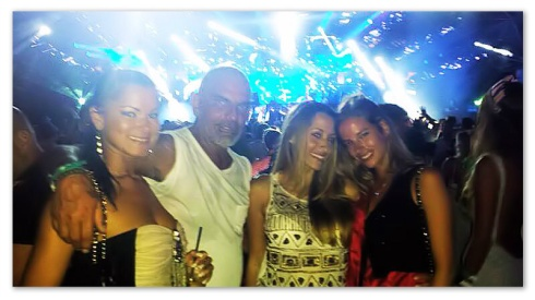 Bruna, Christian Audiguier, Paty & Nathalie Sorensen having so much fan!