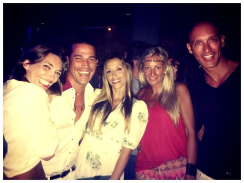 Laura, Jordi,Paty, Maca y David….. que reencuentro!!