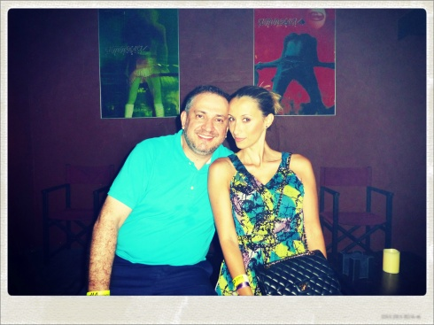 Con Harold Gallo, respresentante de Paris Hilton en Amnesia Ibiza