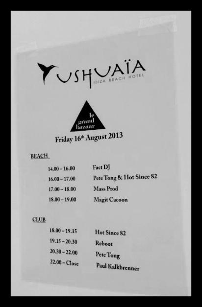 Programa de ese día en Ushuaia