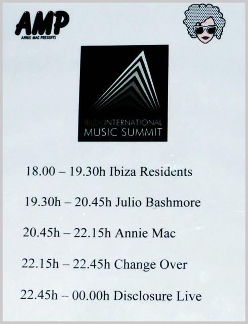 Aquí tenéis el line up de Summit !! Que lujo!! :)