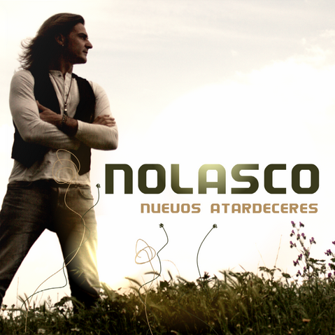 "Portada de su nuevo trabajo "" Nuevos atardeceres""//Cover of his new album 'New sunsets'"