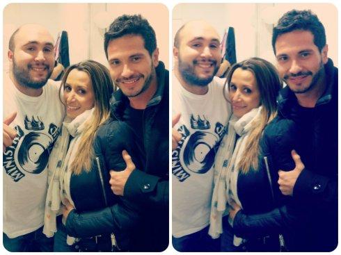 Con Kiko Rivera y David De Maria. :)