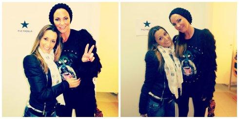 Con la cantante Kate Ryan, desde aquí le enviamos un beso al cantante/compositor Ninos Hanna  ;)
