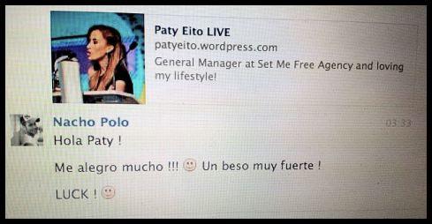 Nacho Polo desde Miami me envió suerte y me ha servido!!!