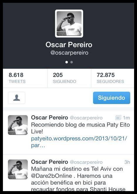 Oscar Pereiro , ciclista apoyándo a nuestro blog!