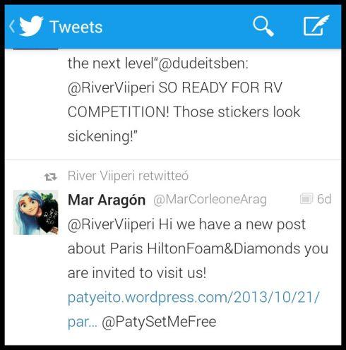 River Viiperi novio de Paris Hilton también apoyándonos!