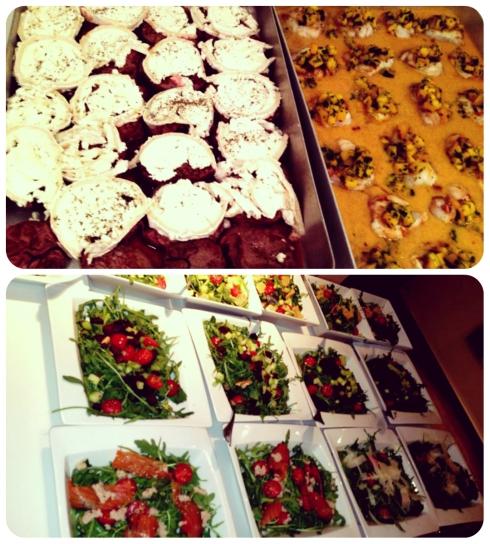 Espectacular la comida que nos cocinó el chef Marco.