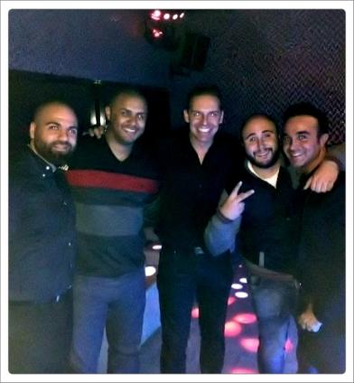 Amigo, Daniel Roque marido de la cantante Tamara, Kiko Rivera y Luis Rollán.