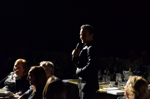 Luis Rollán durante su monólogo me puso en un aprieto jajaja!!© La Cerdanya Restaurant