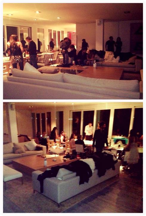 Los invitados llegando a la Villa en Roca Llisa.